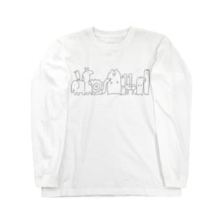 動物たち(明るい色推薦) Long sleeve T-shirts