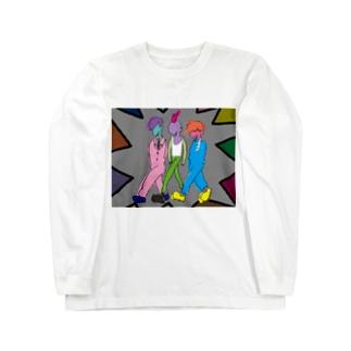 かっこいい三人衆 Long sleeve T-shirts