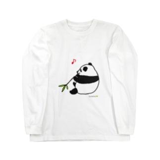 ごきげん子パンダ Long sleeve T-shirts