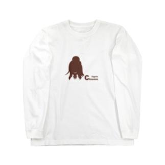13girls C - 藍田 ちえみ(ピンクブラウン) Long sleeve T-shirts