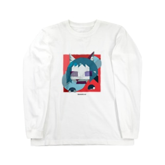 幾何学的な猫 Long sleeve T-shirts