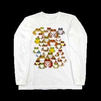 みのじの日本のカエル Long sleeve T-shirts