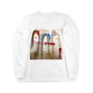 主人公3人 Long sleeve T-shirts