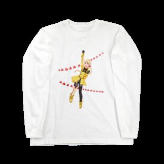ゆるい独裁国家チーズフライ 公式グッズショップのフライくん Long sleeve T-shirts