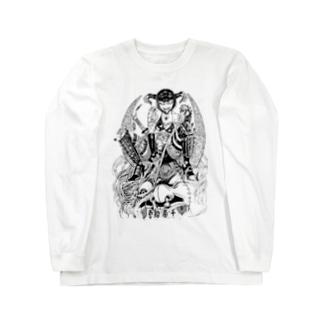 賞金稼ぎ Long sleeve T-shirts