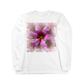 紫の桜餅の香り Long sleeve T-shirts