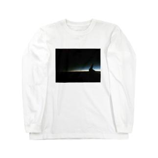 飛行機の翼 Long sleeve T-shirts