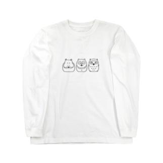 Hipporaccowl(ヒポラカウル)黒 Long sleeve T-shirts