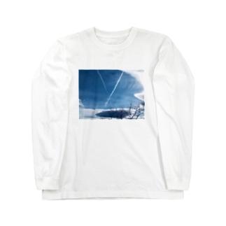 ひこうき雲(文字あり) Long sleeve T-shirts
