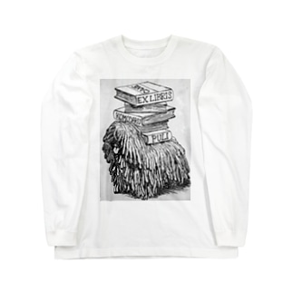 EX-libris  犬の蔵書票 Long sleeve T-shirts