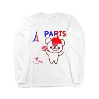 パリとおせんちゃん Long sleeve T-shirts