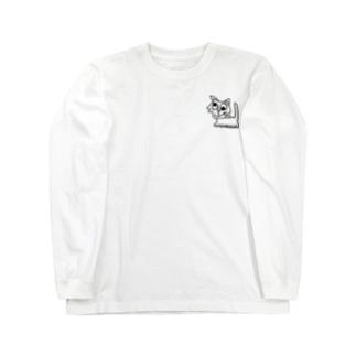指先で歩く猫? Long sleeve T-shirts