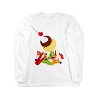フォーリングプリンアラモード Long sleeve T-shirts