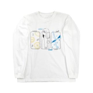 レモンとソーダ Long sleeve T-shirts