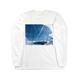 ひこうき雲(文字なし) Long sleeve T-shirts