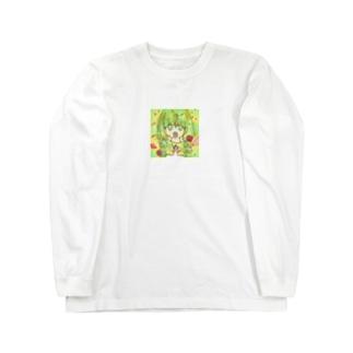 花と女の子 Long sleeve T-shirts