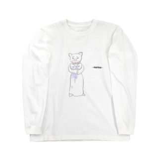 ブタ Long sleeve T-shirts