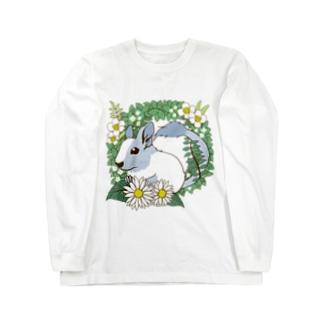 デグーとグリーンリース Long sleeve T-shirts