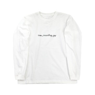 time_travelling_guy ロゴLST Long sleeve T-shirts