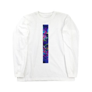 ブラックオパール柄 Long sleeve T-shirts