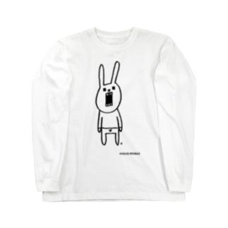 ウサギのウーのシンプルさん Long sleeve T-shirts