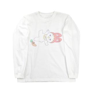 ポップな赤ちゃんうさぎ Long sleeve T-shirts