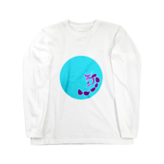 junsen 純仙 じゅんせんのJUNSENSETA(瀬田純仙)古代絵者1水紫フチ無し Long sleeve T-shirts