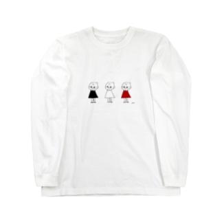 3人のピッちゃん Long sleeve T-shirts