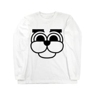 まゆげわんこ Long sleeve T-shirts