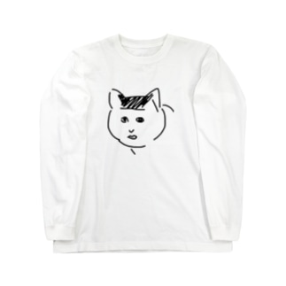 ブサ猫のり夫 Long sleeve T-shirts