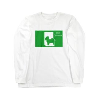 非常口のチワワさん Long sleeve T-shirts
