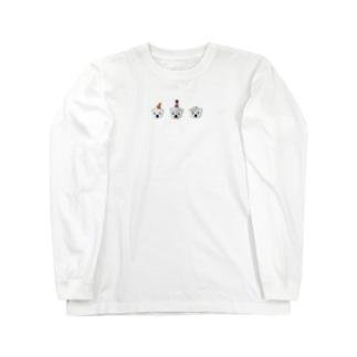白くま3兄弟 Long sleeve T-shirts
