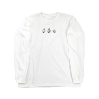 白くま3兄弟 Long sleeve T-shirts