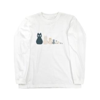 ネコリョシカ Long sleeve T-shirts