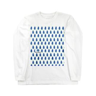 simple blue Long sleeve T-shirts