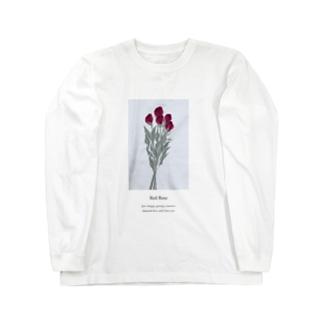 花言葉 rose Long sleeve T-shirts