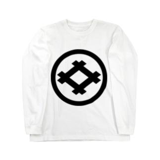 丸に井桁 Long sleeve T-shirts