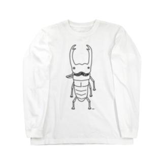 ヒゲクワガタ イラスト Long sleeve T-shirts