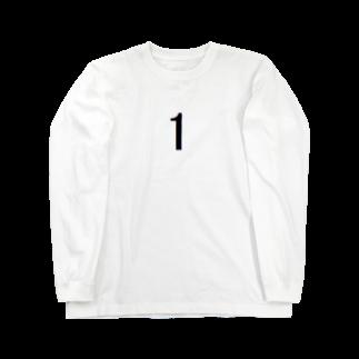 アメリカン★ベースの背番号 1 Long sleeve T-shirts