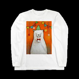 佐山周市のしろくまパーティ Long sleeve T-shirts