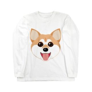 かわいい柴犬 Long sleeve T-shirts