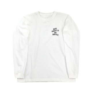 BOY SHOULD BE BRAVE Long sleeve T-shirts