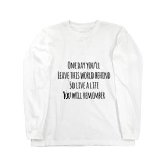 未来への言葉 Long sleeve T-shirts