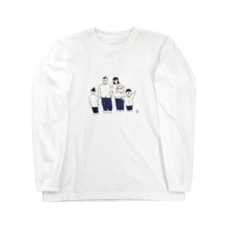 煮豆ファミリー Long sleeve T-shirts