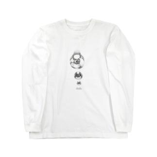 点々で水滴。 Long sleeve T-shirts