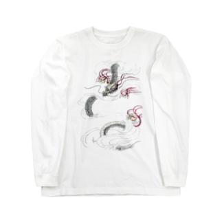 和風ドラゴン Japanese Dragon Long sleeve T-shirts