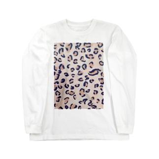 かわいいピンク風ヒョウ柄です! Long sleeve T-shirts