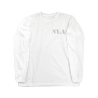 エヌワイドットエー(通称「ニャ」) ・ライトグレー Long sleeve T-shirts