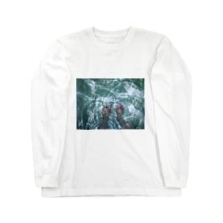 揺らぎと裸足 Long sleeve T-shirts