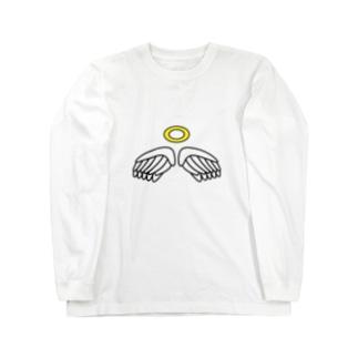 天使のグッズ Long sleeve T-shirts